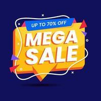 mega sale banner sjabloon promotie vector