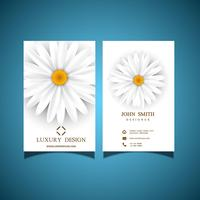 Witte bloem visitekaartje vector
