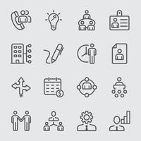 menselijke hulpbronnen lijn pictogramserie