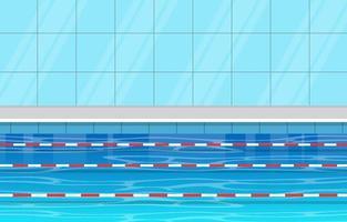 zwembad met lanen en touwen vector