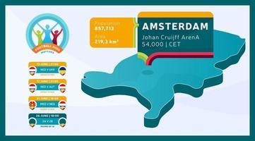 nederland isometrische voetbalkaart vector