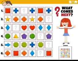 vul het patroon educatieve activiteit voor kinderen