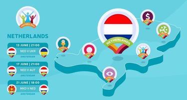 nederland isometrische kaart vector
