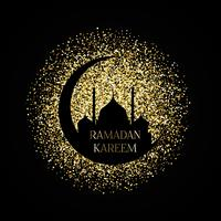 Gouden ramadan kareem achtergrond vector