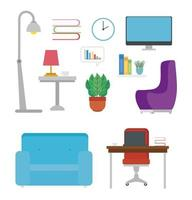 meubels pictogramserie vector