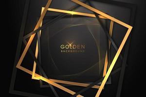 luxe zwarte achtergrond met een combinatie van goud glanzend in een 3D-stijl. grafisch ontwerpelement. elegante decoratie. eps 10 vector