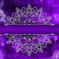 Mandala-ontwerp op een waterverfachtergrond vector