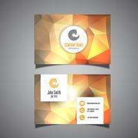 Sjabloon voor visitekaartjes met laag poly ontwerp vector