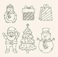 vrolijk kerstpictogram decorontwerp vector