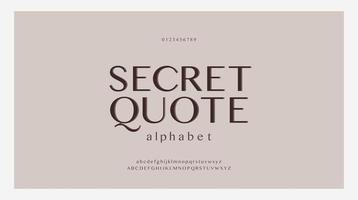 elegante alfabet letters lettertypeset. klassieke aangepaste belettering ontwerpen voor logo, poster. typografie lettertypen klassieke stijl, gewone hoofdletters, kleine letters en cijfers. vector illustratie