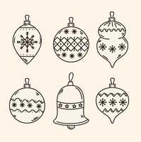kerst ornament set vector