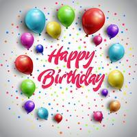 Verjaardag ballonnen achtergrond vector