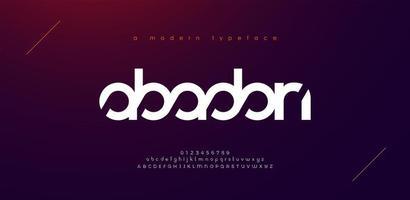 abstracte sport moderne alfabet lettertypen. typografie technologie elektronische sport digitale game muziek toekomst creatief lettertype. vector illustratie