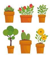 potplanten set vector