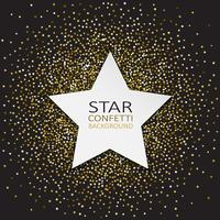 Star confetti achtergrond vector