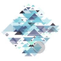 Abstract geometrisch ontwerp vector