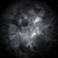 Abstracte lage polyachtergrond met verbindende punten vector