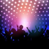 Partij menigte op disco lichten achtergrond vector