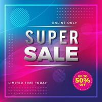 super verkoop flyer of sociale media-sjabloon voor spandoek