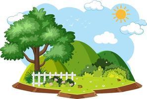 geïsoleerde natuur boseiland