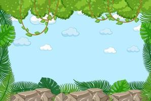 lege hemelachtergrond met bladerenelement