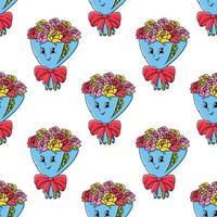 naadloze patroon bloemboeket