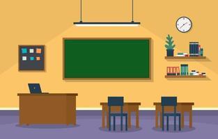 leeg klaslokaal op de middelbare school illustratie vector