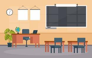 leeg klaslokaal op de middelbare school illustratie
