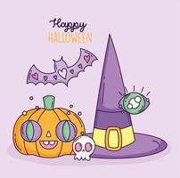 schattige halloween-poster vector
