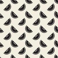 naadloze zwart-wit plak van fruit patroon achtergrondgeluid vector