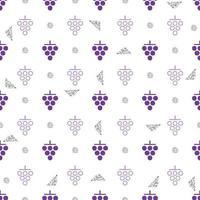 naadloze paarse druif met zilveren stip glitter patroon achtergrond