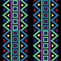 naadloze veelkleurige inheemse patroonachtergrond met geometrische vorm