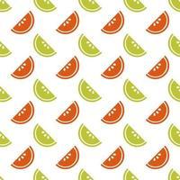 naadloze kleurrijke plak van fruit patroon achtergrond vector