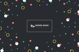 abstracte kleurrijke vorm van geometrisch patroonontwerp op donkere achtergrond. illustratie vector