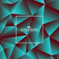 abstracte achtergrond van de het ontwerpdekking van het gradiënt kleurrijke veelhoekige patroon. illustratie vector