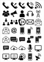 communicatie-interface icon set vector