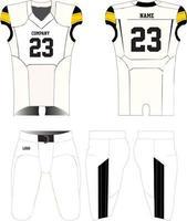 Amerikaans voetbalshirt uniformen mock-ups ontwerp vector