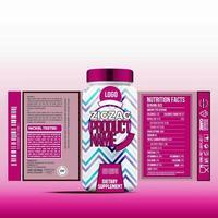 fles etiket, pakket sjabloonontwerp, etiketontwerp, mock-up ontwerpsjabloon labels vector