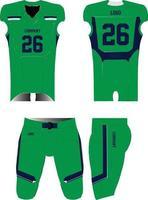 Amerikaanse voetbalshirt uniformen mock-ups ontwerpen vector