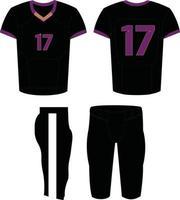 Amerikaanse voetbaluniformen, aangepaste ontwerpillustratie vector