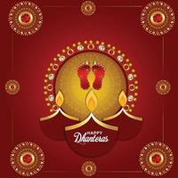 gelukkig dhanterasfestival van de achtergrond van India vector
