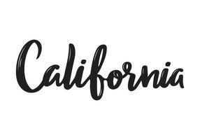 Californië handgeschreven kalligrafie naam van de staat van de VS. hand getrokken borstelkalligrafie. vector