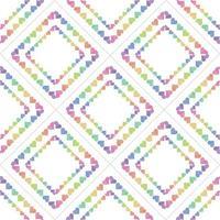 naadloze zoete Valentijnsdag patroon achtergrond met kleurrijke hart frame decor