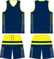 basketbal t-shirt ontwerp uniform set kit vector