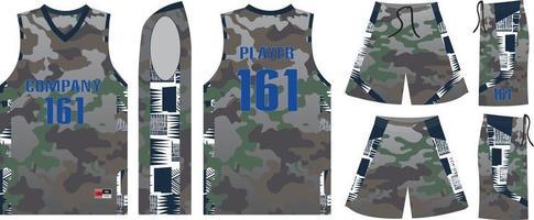 basketbal uniform op maat gemaakt sporttrui vector