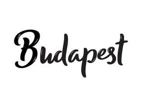 budapest belettering. met de hand geschreven naam van de hoofdstad van hongarije. vector