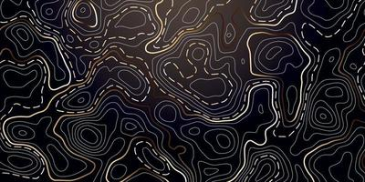 abstracte achtergrond met gouden topografische contour.