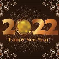 gelukkig nieuwjaar 2022 sneeuwvlokken vector
