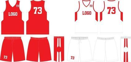 omkeerbare custom design basketbal uniformen jersey en korte broek vector