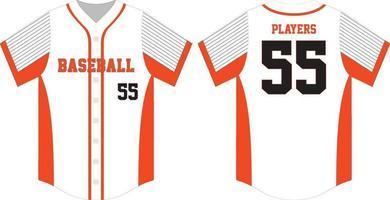 honkbal shirts mock ups illustratie sjablonen vector